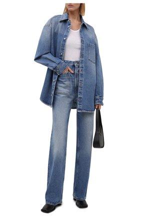 Женские джинсы MM6 голубого цвета, арт. S52LA0155/S30589   Фото 2