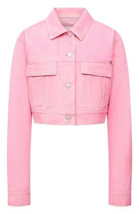 Женская джинсовая куртка GIVENCHY розового цвета, арт. BW00CK50MW | Фото 1