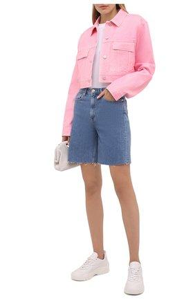 Женская джинсовая куртка GIVENCHY розового цвета, арт. BW00CK50MW | Фото 2