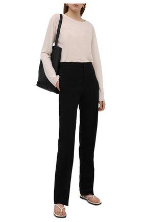 Женские брюки из хлопка и вискозы ISABEL MARANT черного цвета, арт. PA2004-21A015I/LELIR0K | Фото 2