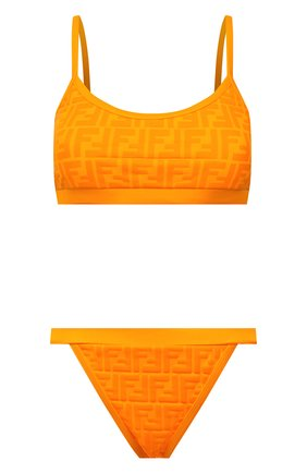 Женский раздельный купальник FENDI оранжевого цвета, арт. FXBH95 AES6   Фото 1