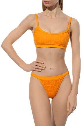 Женский раздельный купальник FENDI оранжевого цвета, арт. FXBH95 AES6   Фото 2