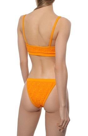 Женский раздельный купальник FENDI оранжевого цвета, арт. FXBH95 AES6   Фото 3