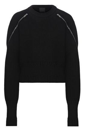 Женский свитер из шерсти и вискозы GIVENCHY черного цвета, арт. BW90CY4Z9W | Фото 1