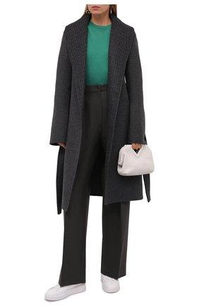 Женское шерстяное пальто GIVENCHY серого цвета, арт. BWC09213QY | Фото 2