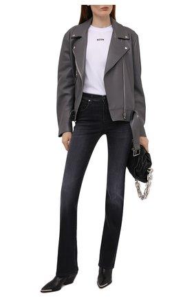Женские джинсы MOORER темно-серого цвета, арт. J0AN-G5/M0DDE100004-TEPA154 | Фото 2