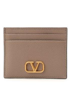 Женский кожаный футляр для кредитных карт VALENTINO темно-бежевого цвета, арт. WW2P0V32/SNP | Фото 1