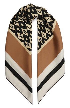 Женский шелковый платок VALENTINO бежевого цвета, арт. WW2EI114/UKA | Фото 1 (Материал: Текстиль, Шелк)