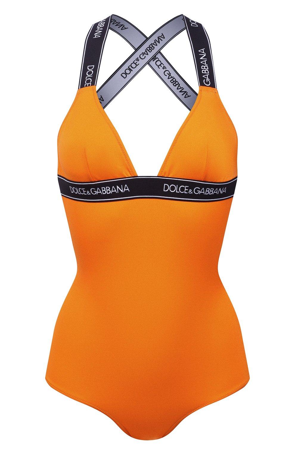 Женский слитный купальник DOLCE & GABBANA оранжевого цвета, арт. 09A82J/FUGLG | Фото 1