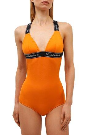 Женский слитный купальник DOLCE & GABBANA оранжевого цвета, арт. 09A82J/FUGLG | Фото 2