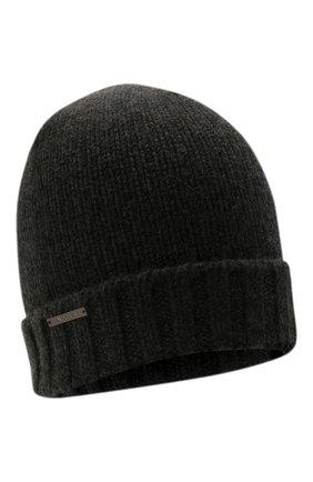 Женская кашемировая шапка MOORER темно-серого цвета, арт. VETTA-CWS/M0DMA100023-TEPA177 | Фото 1