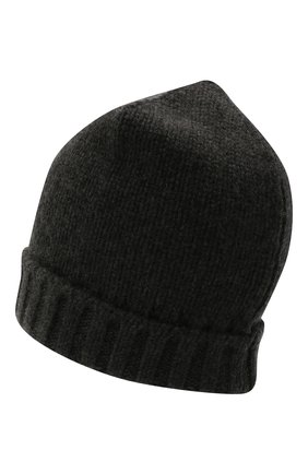 Женская кашемировая шапка MOORER темно-серого цвета, арт. VETTA-CWS/M0DMA100023-TEPA177 | Фото 2