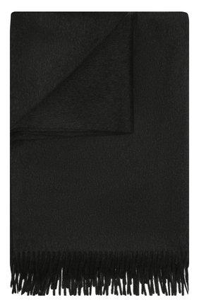 Кашемировый плед LORO PIANA темно-серого цвета, арт. FAA1158 | Фото 1