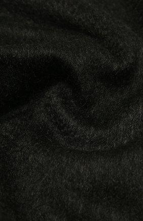 Кашемировый плед LORO PIANA темно-серого цвета, арт. FAA1158 | Фото 2