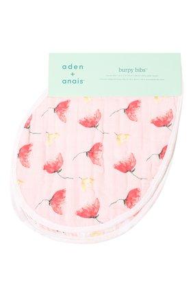Детский комплект из двух нагрудников ADEN+ANAIS розового цвета, арт. ABBC20001 | Фото 1