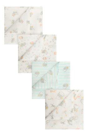 Детского комплект из четырех пеленок ADEN+ANAIS разноцветного цвета, арт. ESWC40007DI | Фото 1