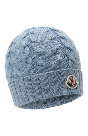 Детского шерстяная шапка MONCLER голубого цвета, арт. G2-954-3B715-20-04S02 | Фото 1