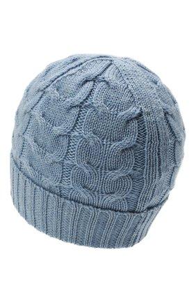Детского шерстяная шапка MONCLER голубого цвета, арт. G2-954-3B715-20-04S02 | Фото 2