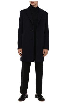 Мужской пальто из шерсти и кашемира BOSS темно-синего цвета, арт. 50459022 | Фото 2