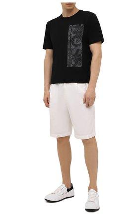 Мужская хлопковая футболка BOSS черного цвета, арт. 50448680 | Фото 2 (Материал внешний: Хлопок; Рукава: Короткие; Длина (для топов): Стандартные; Принт: С принтом; Стили: Кэжуэл)
