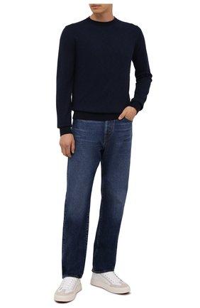 Мужской хлопковый джемпер BOSS темно-синего цвета, арт. 50452448 | Фото 2