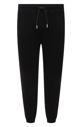 Мужские джоггеры BOSS черного цвета, арт. 50452474 | Фото 1 (Материал внешний: Хлопок, Синтетический материал; Длина (брюки, джинсы): Стандартные; Силуэт М (брюки): Джоггеры; Стили: Спорт-шик; Мужское Кросс-КТ: Брюки-трикотаж)