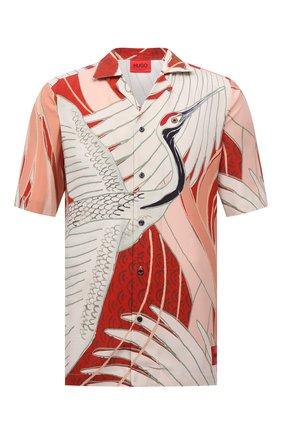Мужская рубашка из вискозы HUGO разноцветного цвета, арт. 50449723 | Фото 1