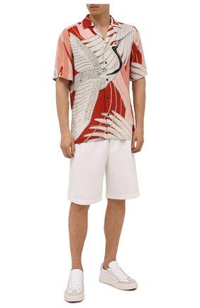 Мужская рубашка из вискозы HUGO разноцветного цвета, арт. 50449723 | Фото 2