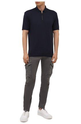 Мужское поло HUGO темно-синего цвета, арт. 50453795 | Фото 2