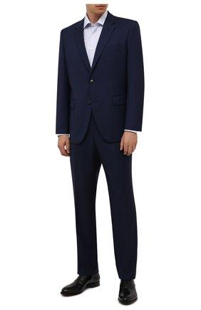 Мужской шерстяной костюм HUGO темно-синего цвета, арт. 50454287 | Фото 1