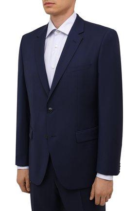 Мужской шерстяной костюм HUGO темно-синего цвета, арт. 50454287 | Фото 2