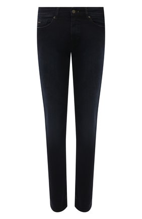 Мужские джинсы BOSS темно-синего цвета, арт. 50453250 | Фото 1