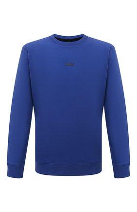 Мужской хлопковый свитшот BOSS синего цвета, арт. 50459462 | Фото 1