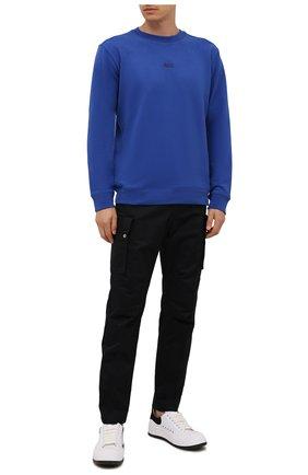 Мужской хлопковый свитшот BOSS синего цвета, арт. 50459462 | Фото 2
