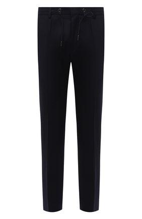 Мужские шерстяные брюки BOSS темно-синего цвета, арт. 50458788 | Фото 1