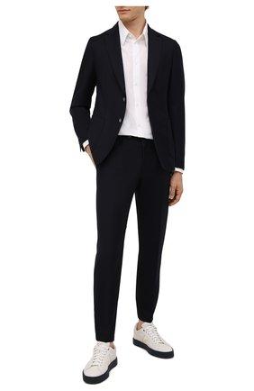 Мужские шерстяные брюки BOSS темно-синего цвета, арт. 50458788 | Фото 2
