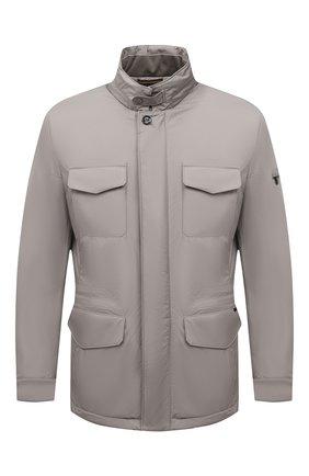 Мужская утепленная куртка leonardo-stp MOORER светло-серого цвета, арт. LE0NARD0-STP/M0UGI100225-TEPA023 | Фото 1