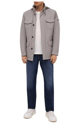 Мужская утепленная куртка leonardo-stp MOORER светло-серого цвета, арт. LE0NARD0-STP/M0UGI100225-TEPA023 | Фото 2