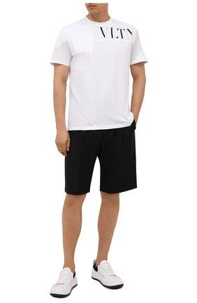 Мужская хлопковая футболка VALENTINO белого цвета, арт. WV3MG09S7D0 | Фото 2