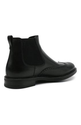 Мужские кожаные челси W.GIBBS черного цвета, арт. 3169004/0214 | Фото 4 (Материал внутренний: Натуральная кожа; Подошва: Плоская; Мужское Кросс-КТ: Сапоги-обувь, Челси-обувь)