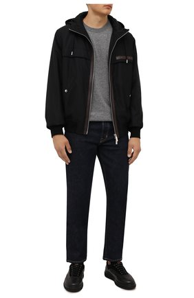Мужские кожаные кеды W.GIBBS черного цвета, арт. 0325003/2499 | Фото 2