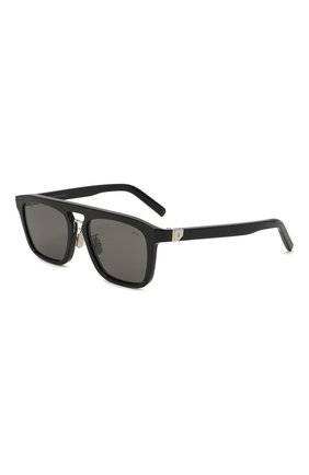 Мужские солнцезащитные очки BERLUTI черного цвета, арт. BL 40025U | Фото 1