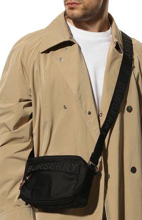 Мужская текстильная сумка BURBERRY черного цвета, арт. 8025669 | Фото 2
