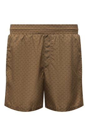 Мужские плавки-шорты GUCCI светло-коричневого цвета, арт. 599585/XHAD4 | Фото 1