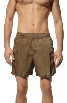 Мужские плавки-шорты GUCCI светло-коричневого цвета, арт. 599585/XHAD4 | Фото 2