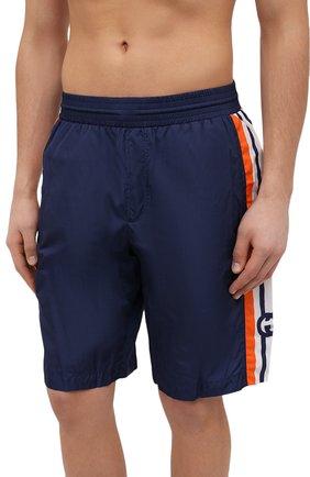 Мужские плавки-шорты GUCCI синего цвета, арт. 599576/XHADW | Фото 2