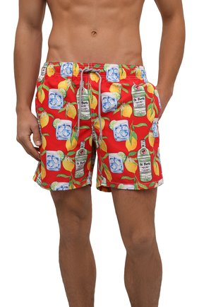Мужские плавки-шорты MC2 SAINT BARTH красного цвета, арт. STBM GUSTAVIA/GUS0001 | Фото 2