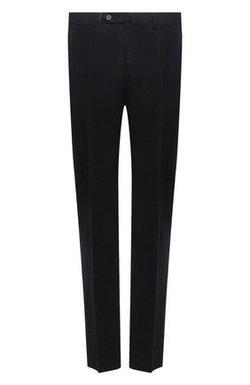 Мужские шерстяные брюки ZILLI темно-серого цвета, арт. M0W-Z1-05405/0001 | Фото 1 (Длина (брюки, джинсы): Стандартные; Материал внешний: Шерсть; Материал подклада: Купро; Стили: Классический; Случай: Формальный)