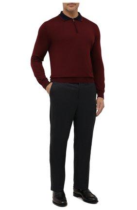 Мужские шерстяные брюки ZILLI темно-серого цвета, арт. M0W-Z1-05405/0001 | Фото 2 (Длина (брюки, джинсы): Стандартные; Материал внешний: Шерсть; Материал подклада: Купро; Стили: Классический; Случай: Формальный)