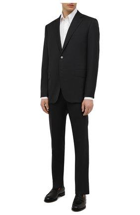 Мужской шерстяной костюм ZILLI темно-серого цвета, арт. MMW-P1202Z1-00105/0002 | Фото 1 (Материал подклада: Купро; Материал внешний: Шерсть; Рукава: Длинные; Костюмы М: Однобортный; Стили: Классический)